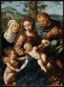 Święta Rodzina, Jan Sanders van Hemessen (Hemiksem, ok. 1500 – Haarlem, 1575/1576), po 1540, drewno, olej, fot. © Zamek Królewski na Wawelu